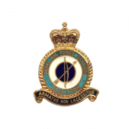 Royal Air Force RAF Station Scampton Lapel Badge